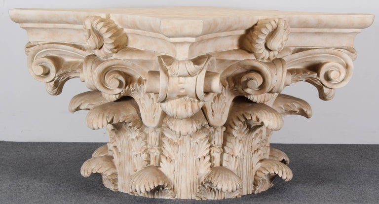 Corinthian Capital Classical Roman Fiberglass Dining Table