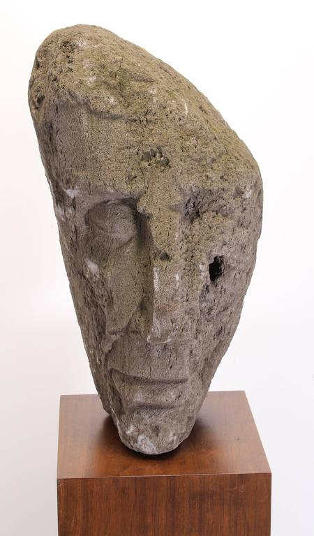 American Volcanic Stone Sculpture by Umberto Romano, 1950