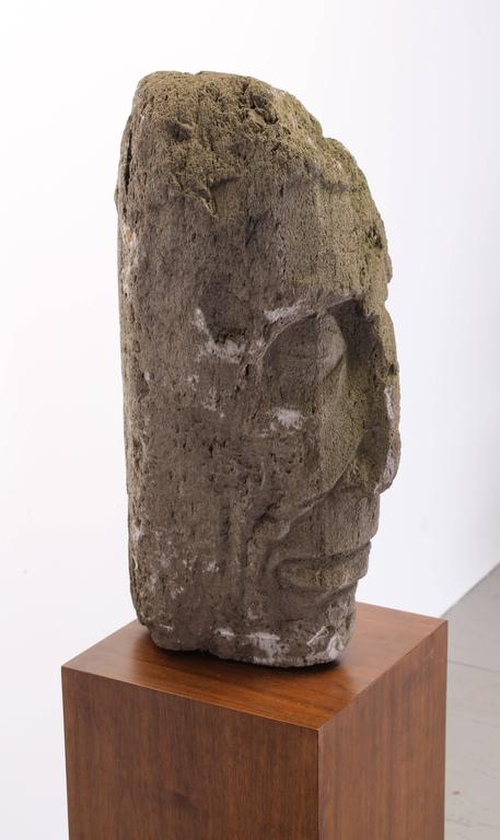 Carved Volcanic Stone Sculpture by Umberto Romano, 1950