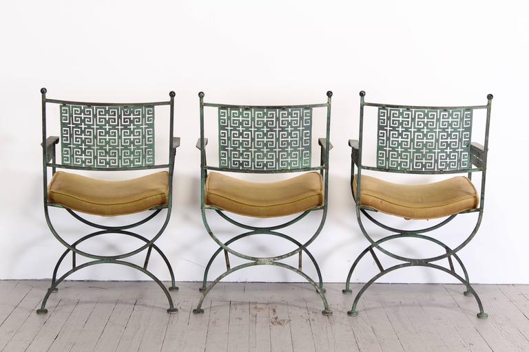 Seven Piece Wrought Iron Patio Set By Shaver Howard 1960