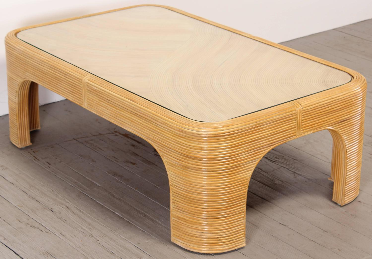 Bamboo Coffee Tables ~ Rattan bamboo coffee table s for sale at stdibs