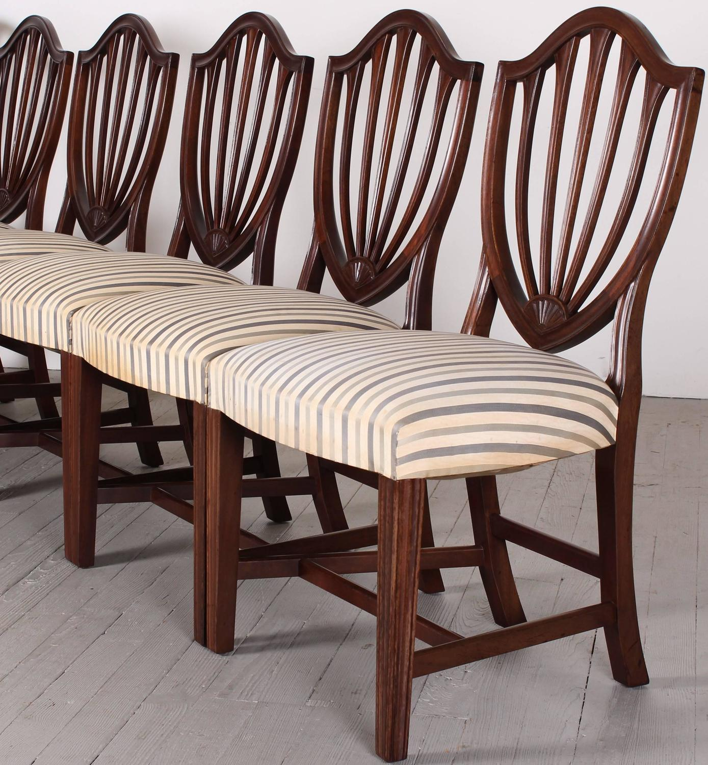 Shield Back Dining Room Chairs