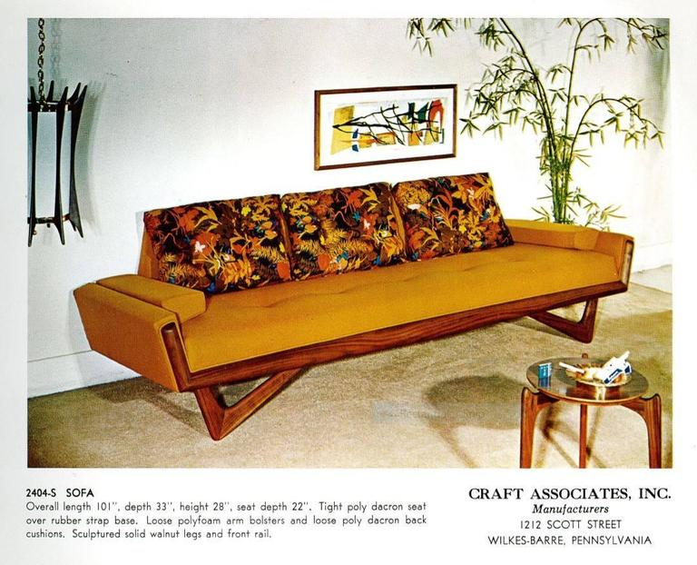 1960s adrian pearsall sofa model 2404s at 1stdibs