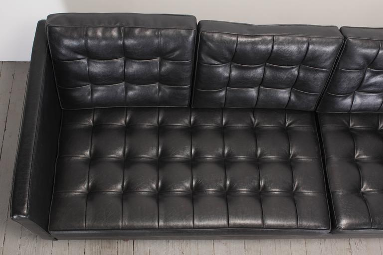 Milo Baughman for Thayer Coggin Black Vinyl Sofa, 1960s In Good Condition For Sale In Hamburg, PA