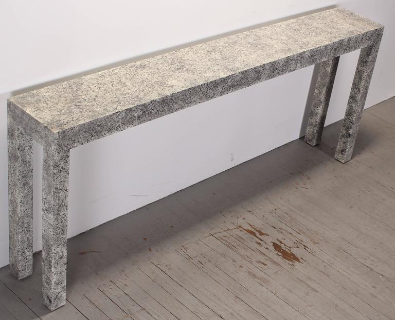 Fabulous Faux Painted Granite Parsons Console Table 1970S At 1Stdibs Pabps2019 Chair Design Images Pabps2019Com