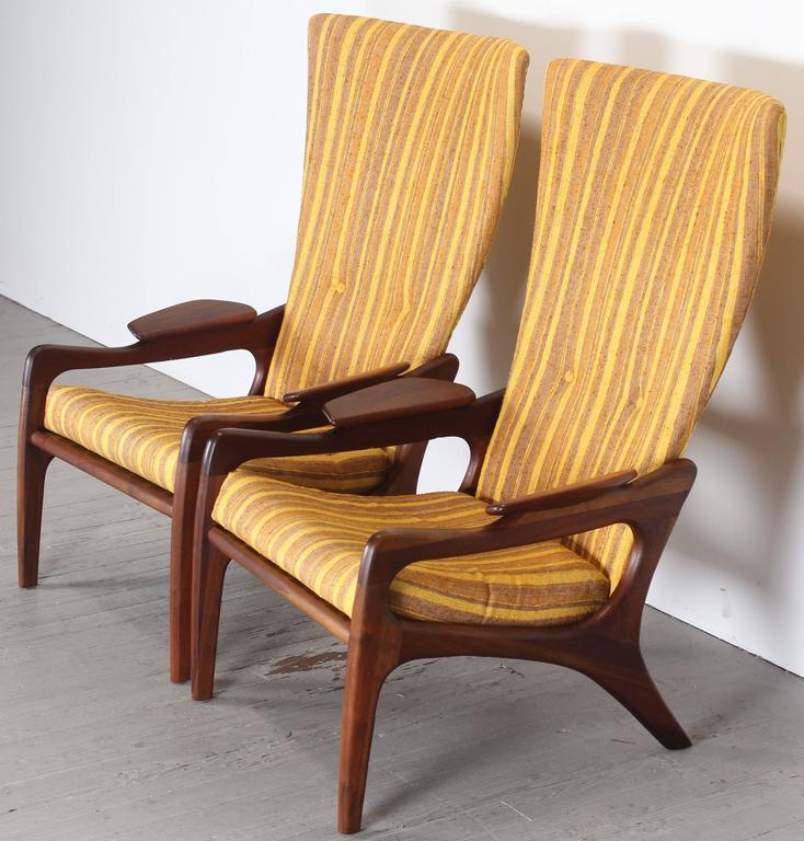 Pair of Original Adrian Pearsall Wingback Chairs, 1960s 9