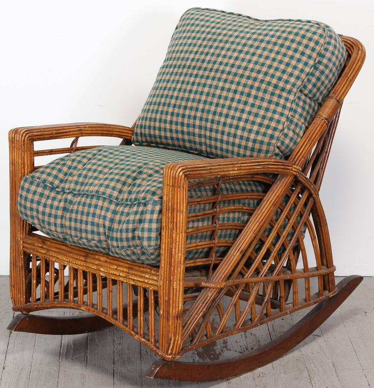 The Deco Stylist Tagged 1960 S Fashion The Deco Haus: Cramer Art Deco Stick Reed Rattan Wicker Rocking Chair