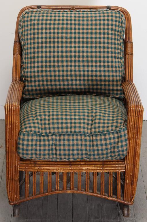 Cramer Art Deco Stick Reed Rattan Wicker Rocking Chair