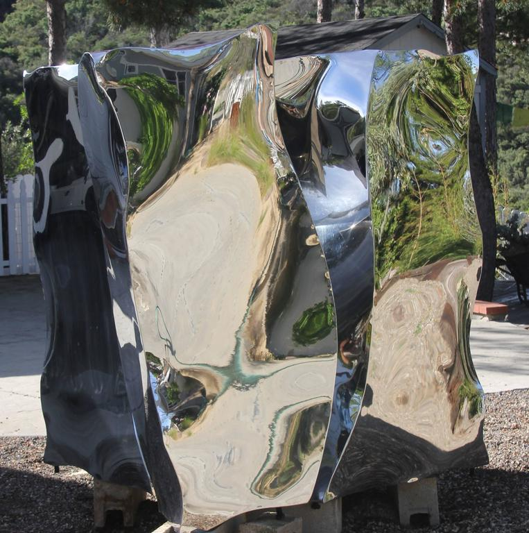 Large Polished Stainless Steel Quot Ice Cube Quot By Jon Krawczyk