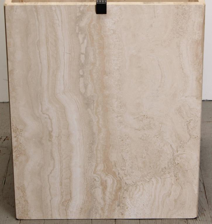 Travertine Marble Dining Table 1970s At 1stdibs
