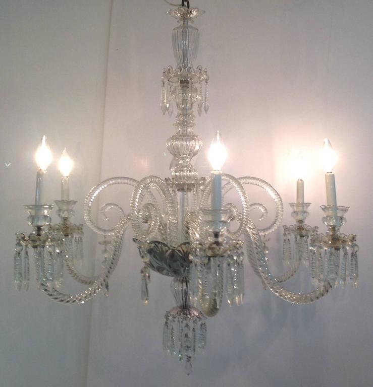 Cut Crystal Chandelier England Circa 1900 For Sale At