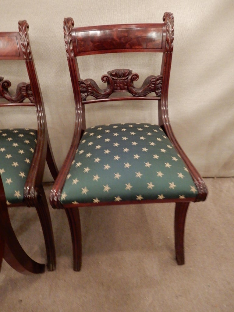 Chairs American Classical NY Dining Set of 4 For Sale 1