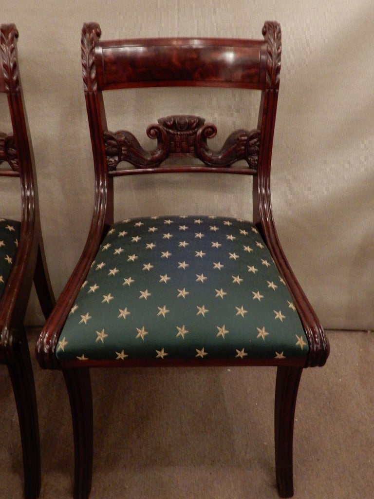 Chairs American Classical NY Dining Set of 4 For Sale 2