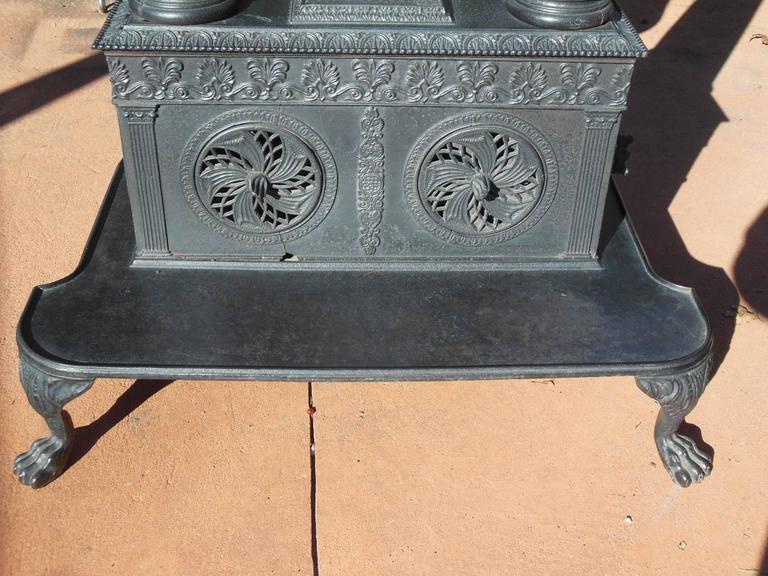 American Cast Iron Parlor Stove 19th Century For Sale At