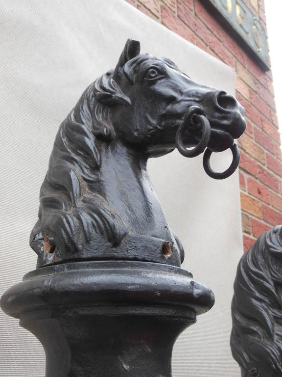 Antique Cast Iron Horse Head Hitching Posts At 1stdibs