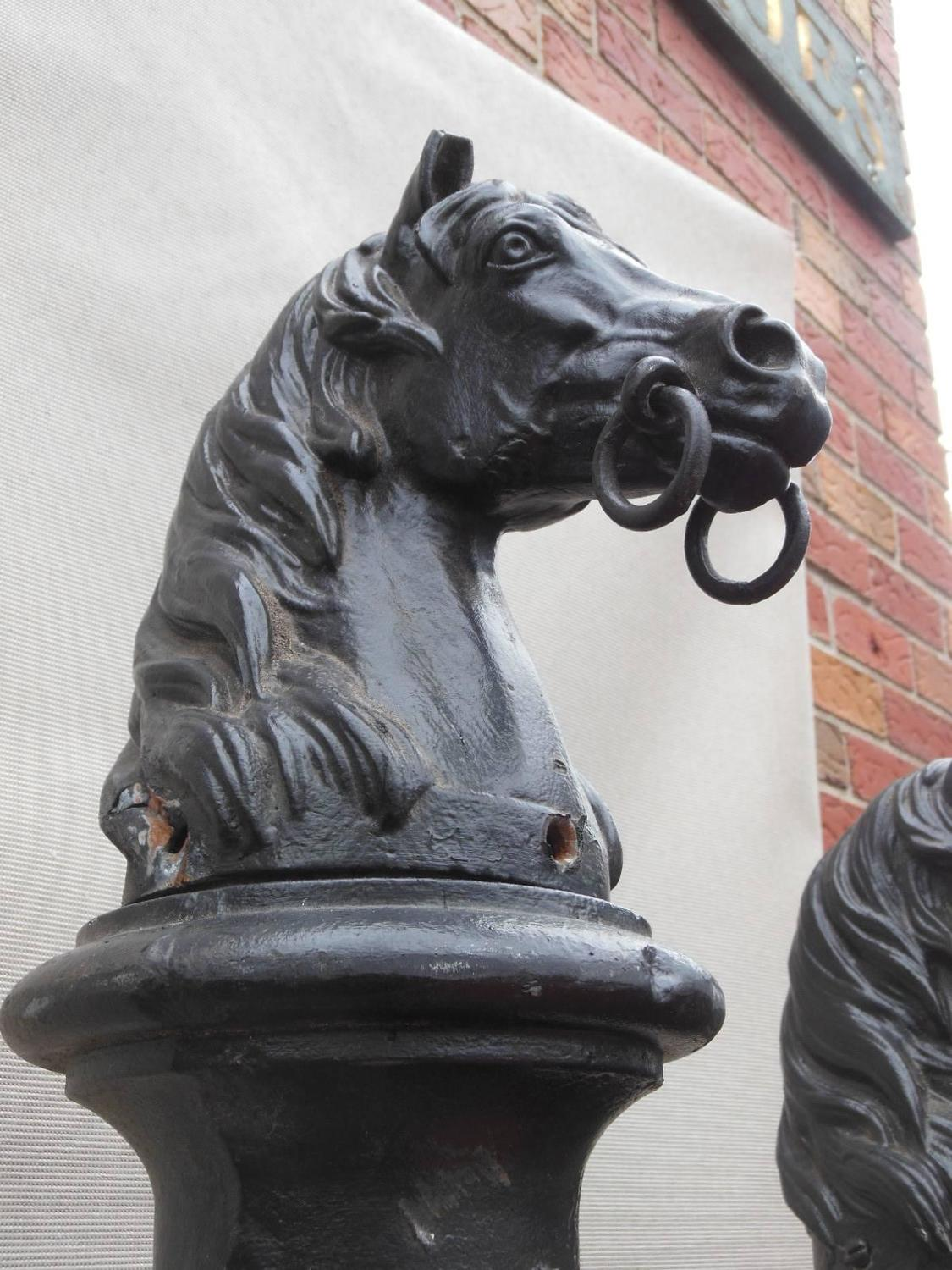 Antique Cast Iron Horse Head Hitching Posts For Sale At