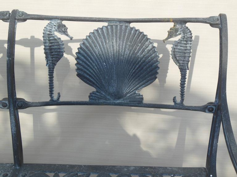 Molla Bench Shell And Sea Horse Design For Sale At 1stdibs