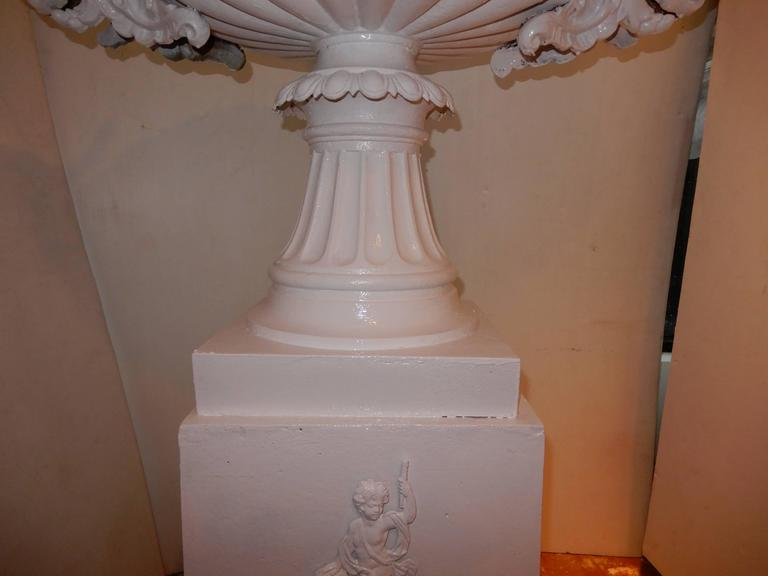Garden Urn, Tall Victorian Cast Iron In Excellent Condition For Sale In Long Island, NY