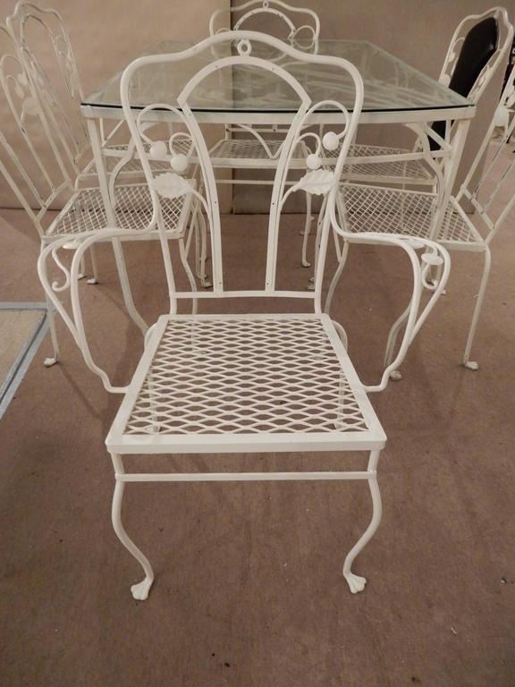 Salterini Wrought Iron Dining Set Seven Pieces For Sale At