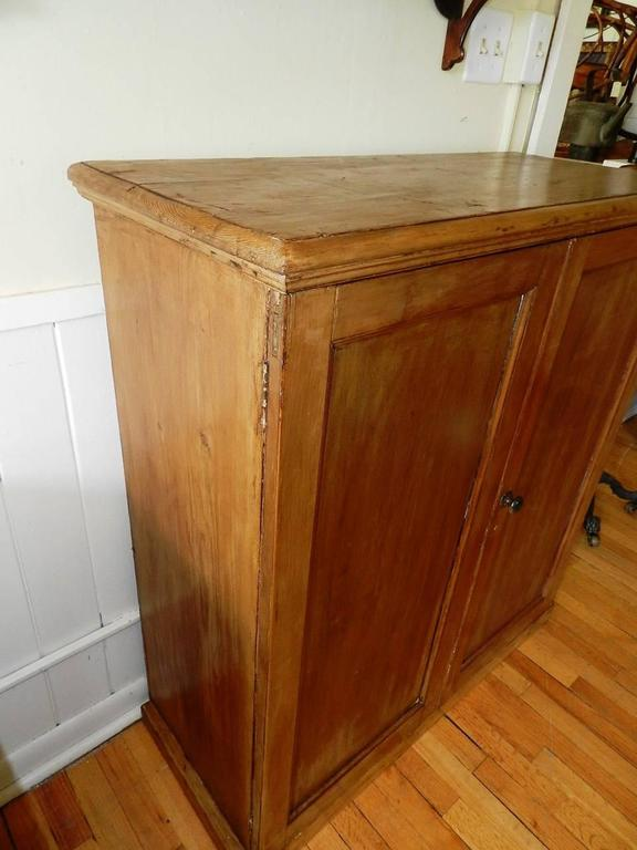 Antique pine collector 39 s cabinet at 1stdibs for Antique pine kitchen cabinets