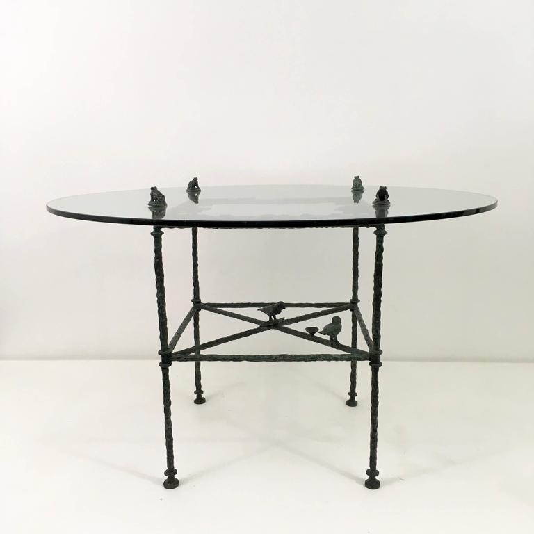 A spectacular Diego Giacometti table.  Fully signed and documented with an impeccable provenance.