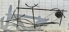 "Claire Falkenstein Monumental Outdoor Bronze Sculpture ""Point As A Set"""
