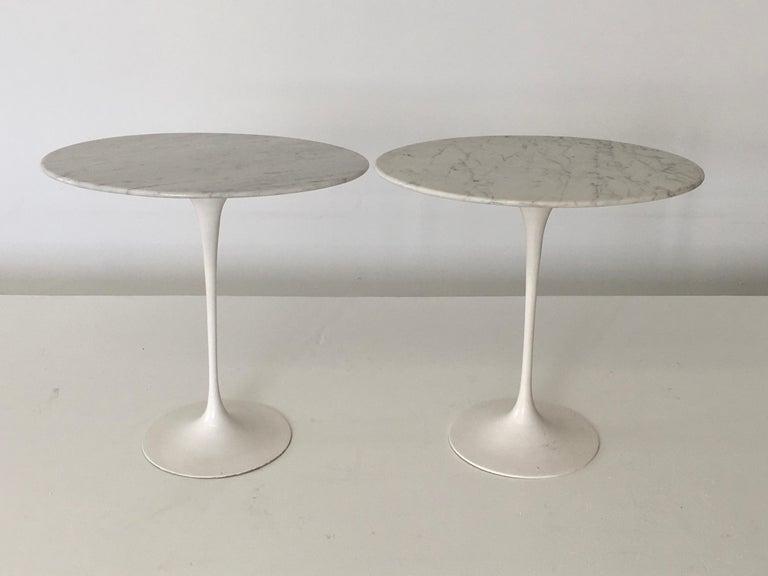 Eero Saarinen Oval Tulip Tables In Carrera Marble
