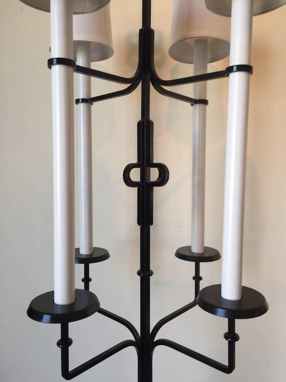 20th Century Tommi Parzinger Magnificent Iron Floor Lamps For Sale
