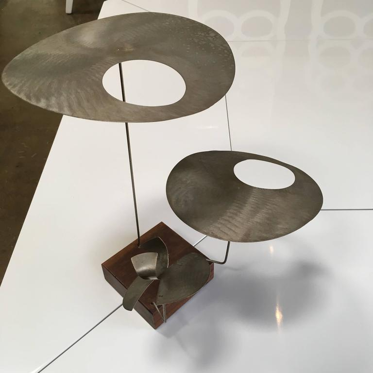 Mid-Century Modern Kinetic Harry Bertoia Sculpture For Sale