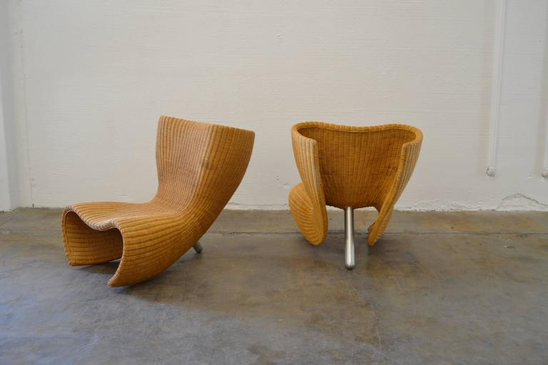 Marc Newson 1st Edition Quot Felt Quot Chairs In Wicker At 1stdibs