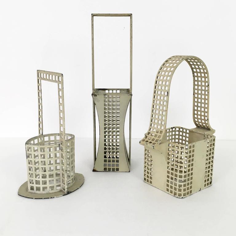 "Set of Three ""Glitterwerk"" Baskets Josef Hoffman for Wiener Werksatte 10"