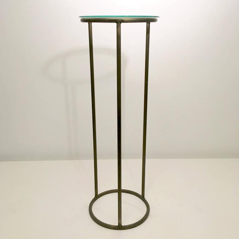 Rare Walter Lamb bronze pedestals. 6500-Tall. 5000-Short.