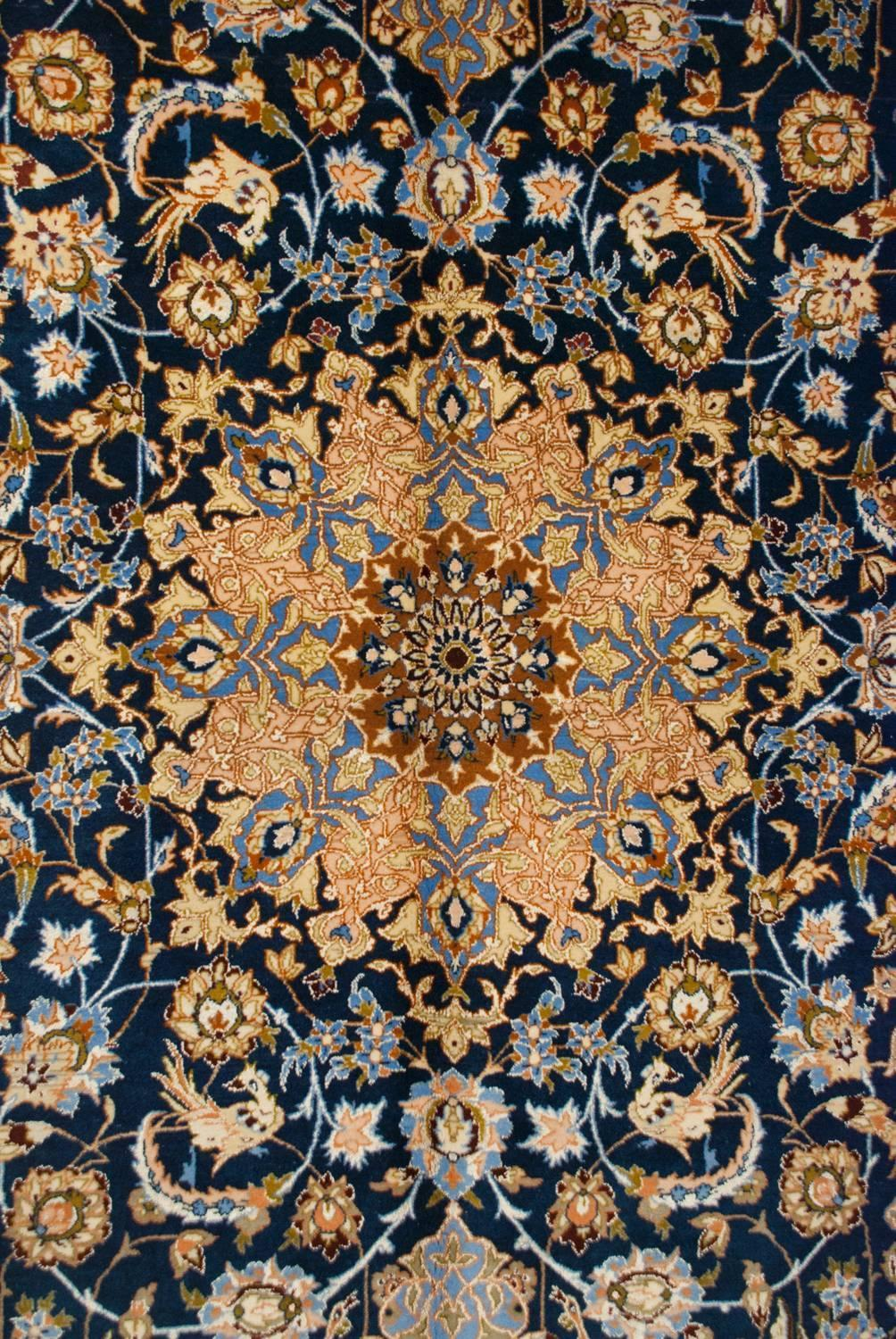 Whimsical Early 20th Century Isfahan Rug For Sale At 1stdibs