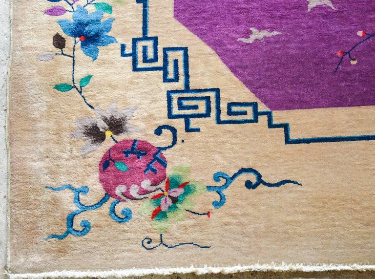 Chinese Art Deco Rug In Good Condition For Sale In Chicago, IL