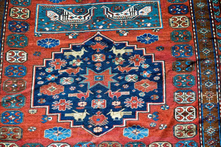 Extraordinary Early 20th Century Caucasian Rug For Sale At