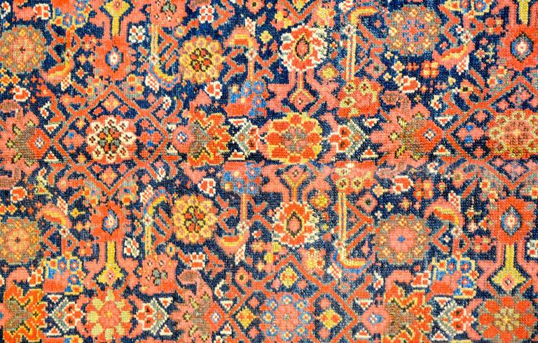 Exceptional Early 20th Century Malayar Herati Rug For Sale