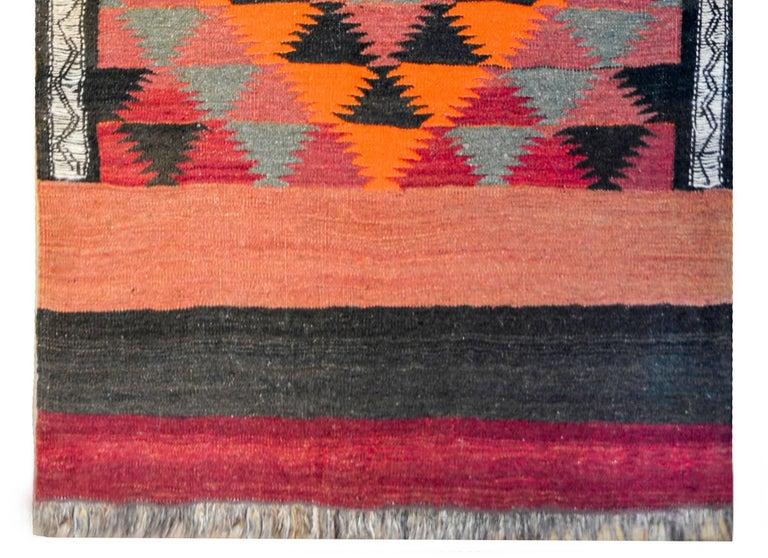 Wool Vintage Afghani Kilim Runner For Sale