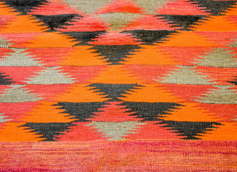 Vintage Afghani Kilim Runner In Good Condition For Sale In Chicago, IL