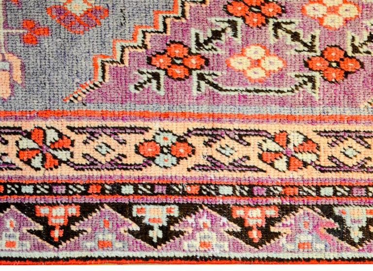 Vegetable Dyed Early 20th Century Samarkand Rug For Sale