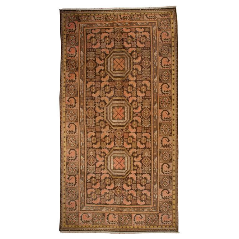19th Century Central Asian Khotan Carpet For Sale