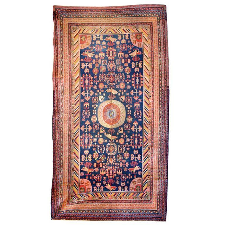 19th Century Central Asian Samarghand Carpet For Sale