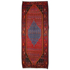 Early 20th Century Zanjan Kilim Carpet