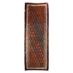 20th Century Kazvin Kilim Carpet