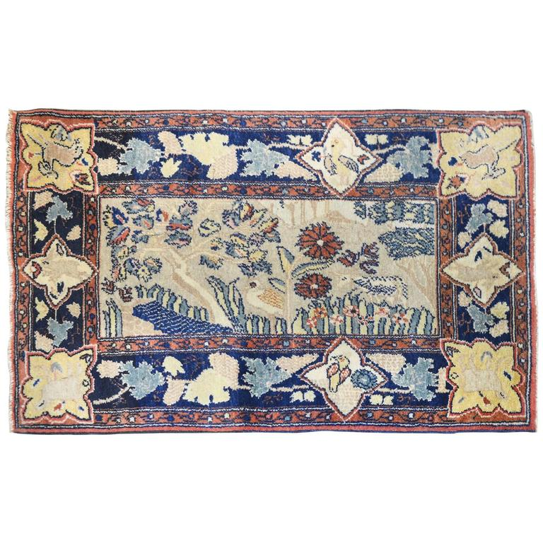 Whimsical Early 20th Century Bakhtiari Rug