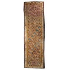 Early 20th Century Persian Qazvin Kilim Carpet Runner