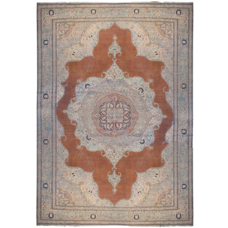 19th Century Persian Haji Jalili Tabriz Rug For Sale At