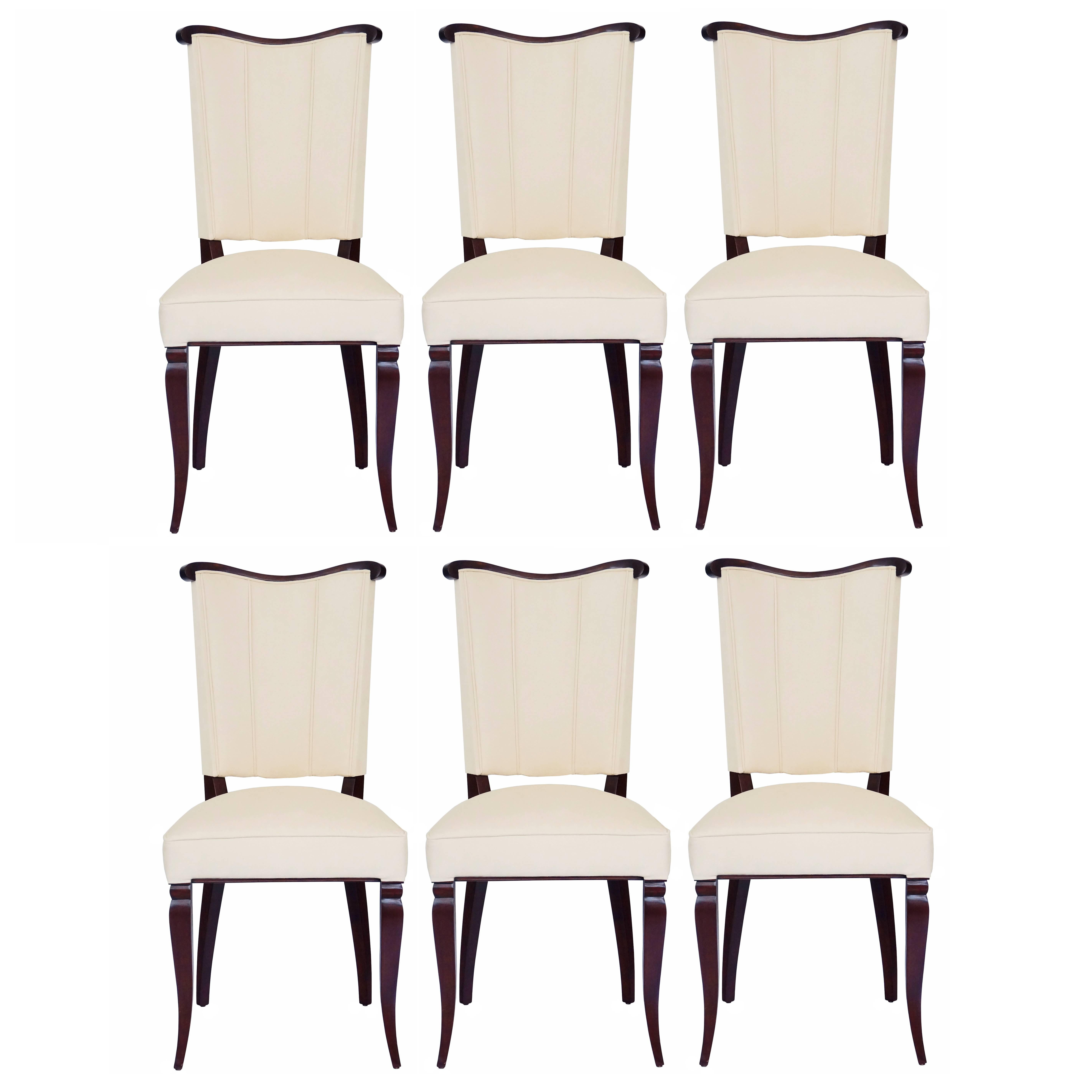 Set of Six Dining Room Side Chairs