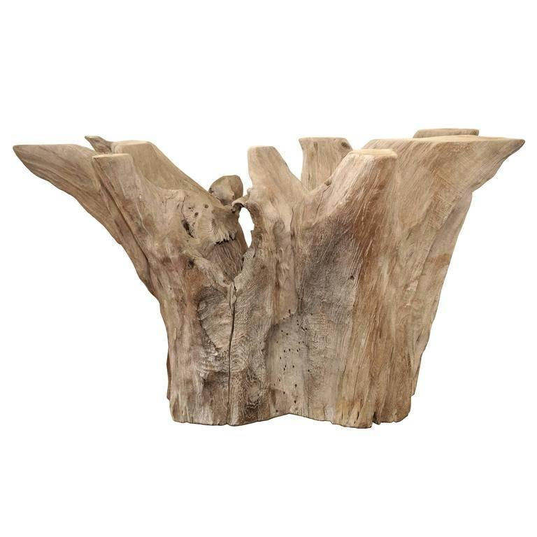 Large-Scale Cypress Tree Driftwood Dining Table or Console Base at