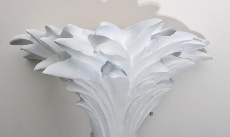 Pair Of Dorothy Draper Style Plaster Palm Tree Form Wall