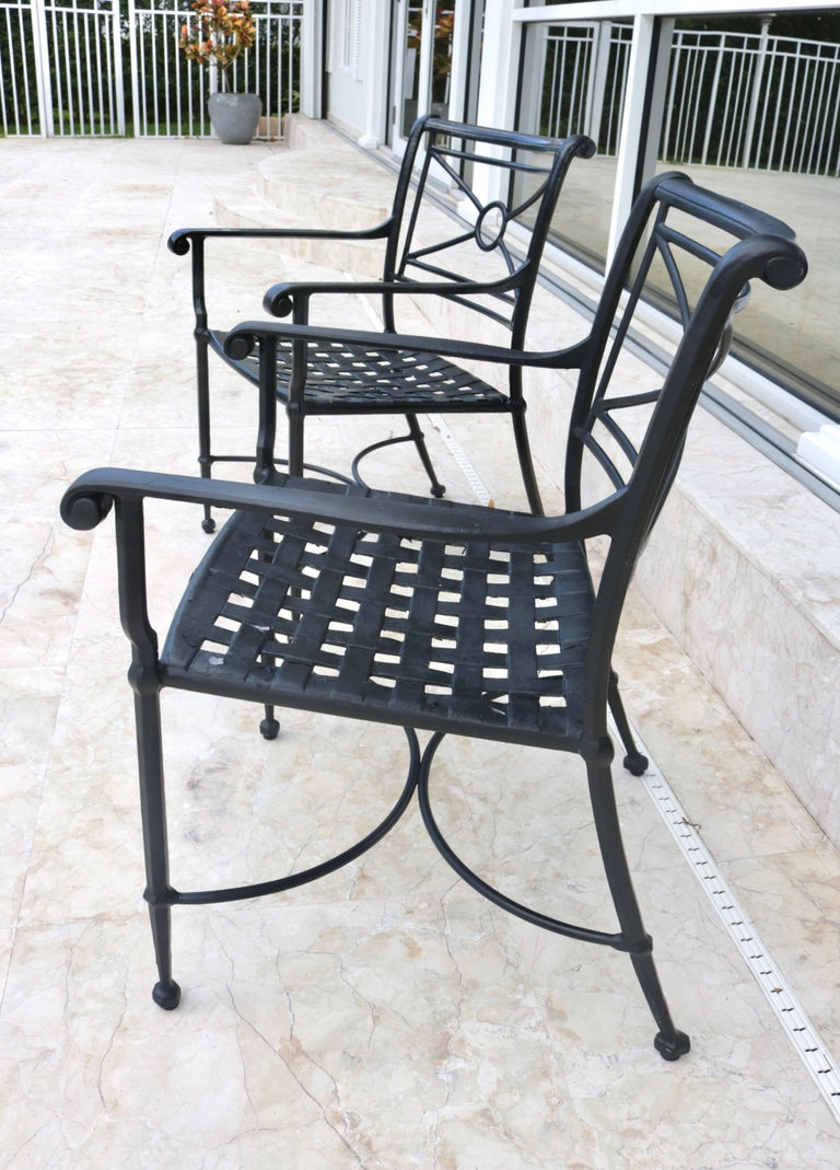 Pair Of Brown Jordan Patio Armchairs In Black For Sale At